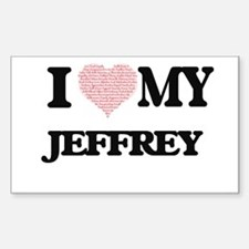 I Love my Jeffrey (Heart Made from Love my Decal