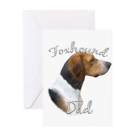 Foxhound Dad2 Greeting Card