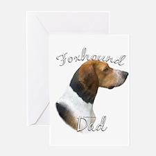 Foxhound Dad2 Greeting Card