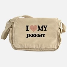 I Love my Jeremy (Heart Made from Lo Messenger Bag