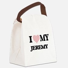 I Love my Jeremy (Heart Made from Canvas Lunch Bag