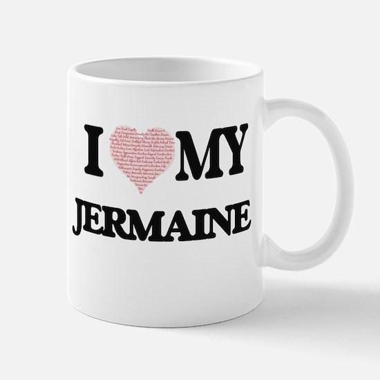 I Love my Jermaine (Heart Made from Love my w Mugs
