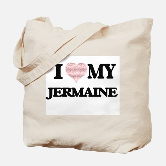 I Love my Jermaine (Heart Made from Love Tote Bag