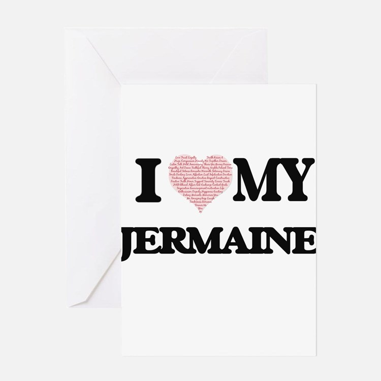 I Love my Jermaine (Heart Made from Greeting Cards