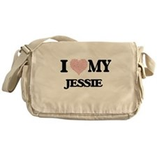 I Love my Jessie (Heart Made from Lo Messenger Bag