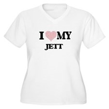 I Love my Jett (Heart Made from Plus Size T-Shirt