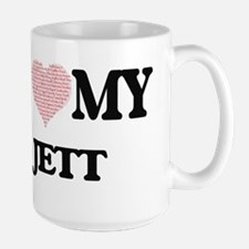 I Love my Jett (Heart Made from Love my words Mugs