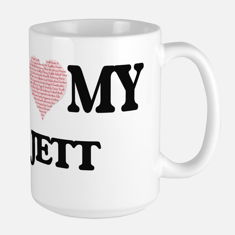 I Love my Jett (Heart Made from Love my words Mugs