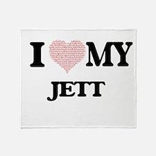 I Love my Jett (Heart Made from Love Throw Blanket