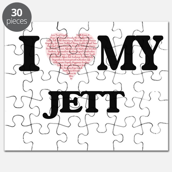I Love my Jett (Heart Made from Love my wor Puzzle