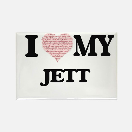 I Love my Jett (Heart Made from Love my wo Magnets