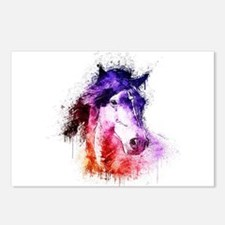 watercolor horse Postcards (Package of 8)