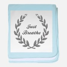 JUST BREATHE baby blanket