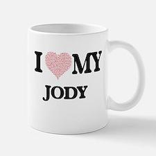 I Love my Jody (Heart Made from Love my words Mugs