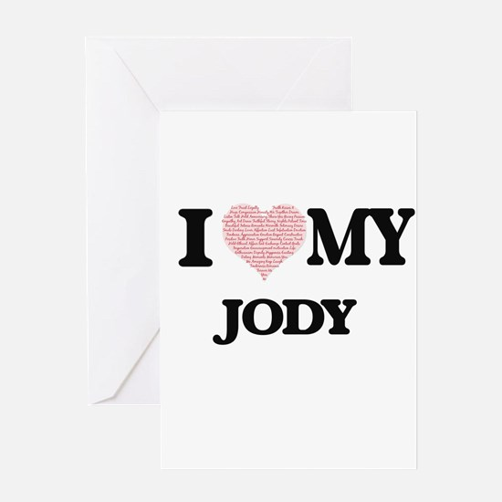 I Love my Jody (Heart Made from Lov Greeting Cards