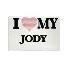I Love my Jody (Heart Made from Love my wo Magnets