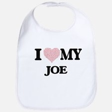 I Love my Joe (Heart Made from Love my words) Bib