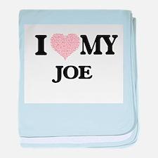 I Love my Joe (Heart Made from Love m baby blanket