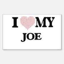 I Love my Joe (Heart Made from Love my wor Decal