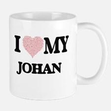 I Love my Johan (Heart Made from Love my word Mugs