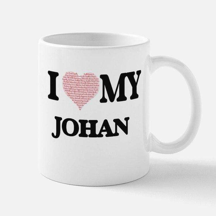I Love my Johan (Heart Made from Love my word Mugs