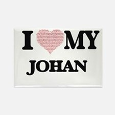 I Love my Johan (Heart Made from Love my w Magnets