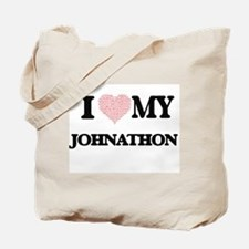I Love my Johnathon (Heart Made from Love Tote Bag