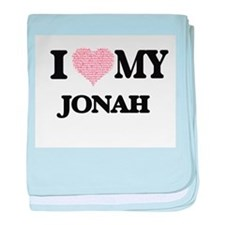 I Love my Jonah (Heart Made from Love baby blanket
