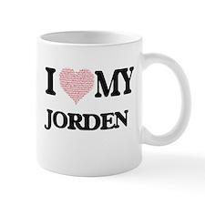 I Love my Jorden (Heart Made from Love my wor Mugs