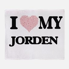 I Love my Jorden (Heart Made from Lo Throw Blanket