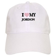 I Love my Jordon (Heart Made from Love my word Baseball Baseball Cap