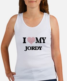 I Love my Jordy (Heart Made from Love my Tank Top