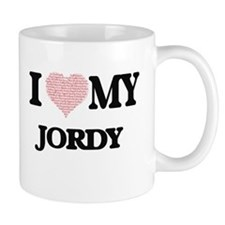 I Love my Jordy (Heart Made from Love my word Mugs