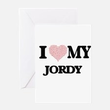 I Love my Jordy (Heart Made from Lo Greeting Cards