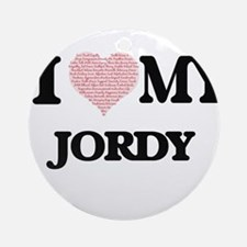 I Love my Jordy (Heart Made from Lo Round Ornament