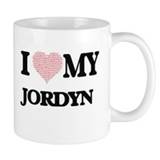 I Love my Jordyn (Heart Made from Love my wor Mugs