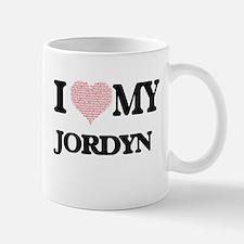 I Love my Jordyn (Heart Made from Love my wor Mugs