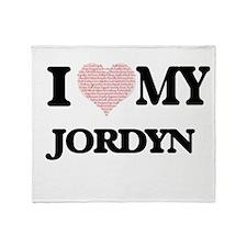 I Love my Jordyn (Heart Made from Lo Throw Blanket