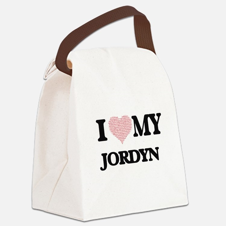 I Love my Jordyn (Heart Made from Canvas Lunch Bag