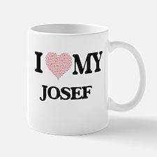 I Love my Josef (Heart Made from Love my word Mugs