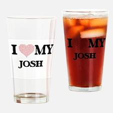 I Love my Josh (Heart Made from Lov Drinking Glass