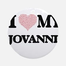 I Love my Jovanni (Heart Made from Round Ornament