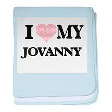 I Love my Jovanny (Heart Made from Lo baby blanket