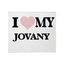 I Love my Jovany (Heart Made from Lo Throw Blanket