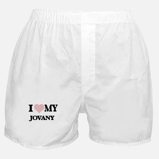 I Love my Jovany (Heart Made from Lov Boxer Shorts