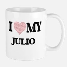 I Love my Julio (Heart Made from Love my word Mugs
