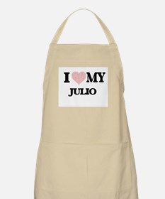 I Love my Julio (Heart Made from Love my wor Apron