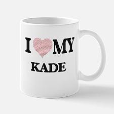 I Love my Kade (Heart Made from Love my words Mugs