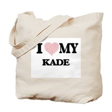 I Love my Kade (Heart Made from Love my w Tote Bag