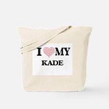 I Love my Kade (Heart Made from Love my w Tote Bag